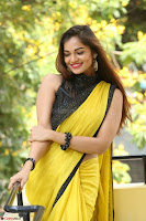 Cute Actress Ashwini in Yellow Saree Exclusive  022.JPG