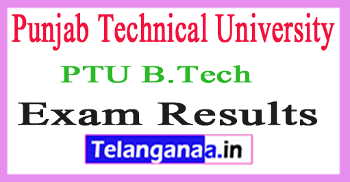 PTU B.Tech Exam Results 2018