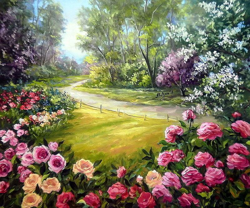 Anca Bulgaru e suas pinturas de paisagens encantadoras