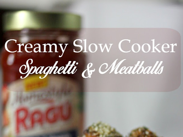 Creamy Slow Cooker Spaghetti & Meatballs (+ $20 Paypal Giveaway!)