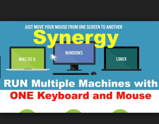 How To Use One Keyboard To Control Multiple Windows PCs Using Synergy