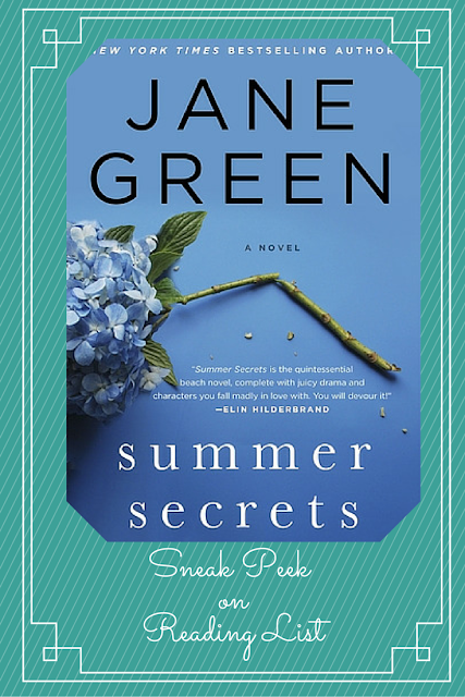 Summer Secrets by Jane Green   A Saturday Sneak Peak feature on Reading List