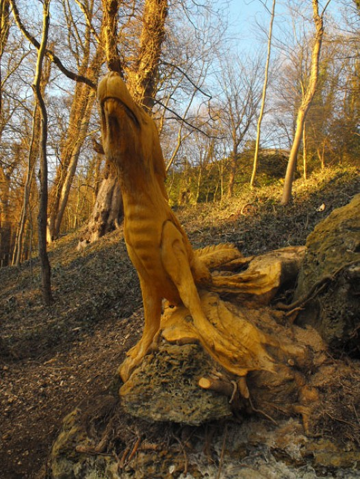 Скульптуры из дерева в Северном Йоркшире 10