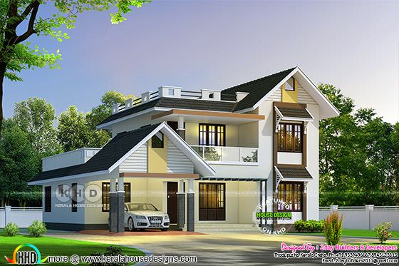 2650 square feet, nice sloping roof mix home