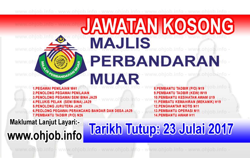 Jawatan Kerja Kosong Majlis Perbandaran Muar - MP Muar logo www.ohjob.info julai 2017