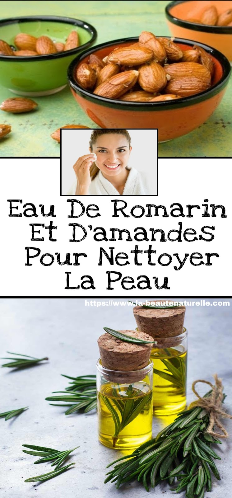 Eau De Romarin Et D'amandes Pour Nettoyer La Peau
