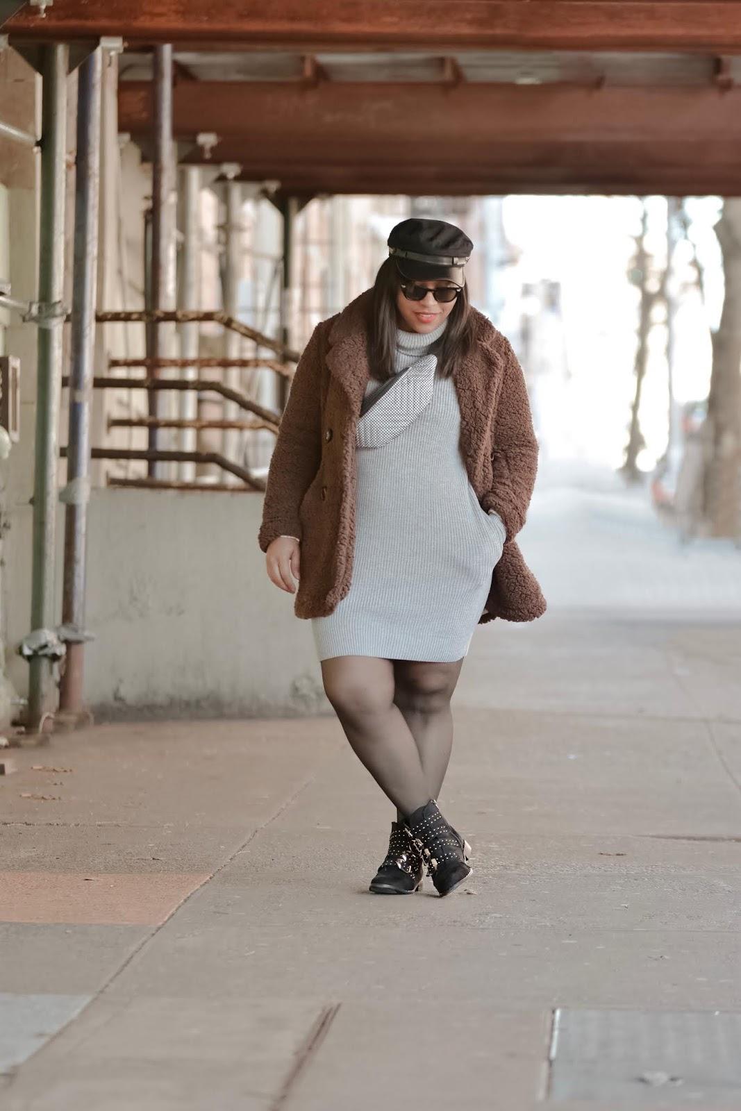 nyfw, nyfw2019, nyfw streetstyle, nyc bloggers, teddy coat