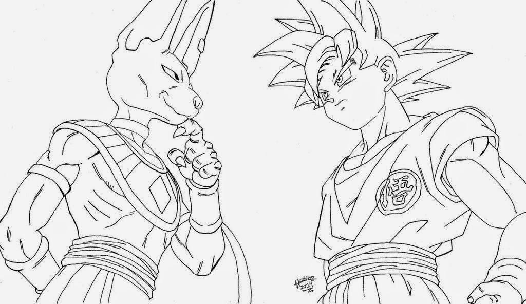 Dibujo De Goku Y Vegeta Para Imprimir Y Colorear: Desenhos Para Colorir E Imprimir: Desenhos Do Dragon Ball