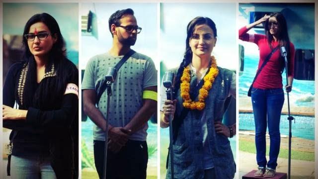 Kamya, Andy, Elli and Gauhar performing in Rajneeti Task