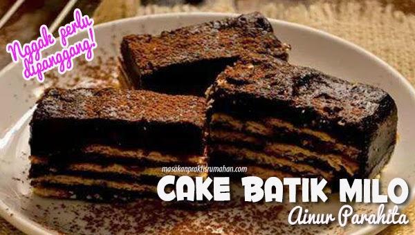 Cake Tanpa Panggang Dan Tanpa Kukus