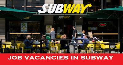 Subway Job Vacancies at Dubai