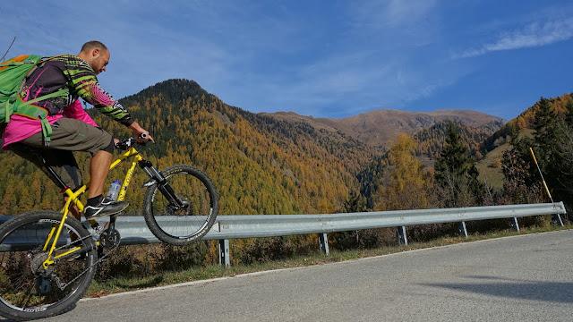 Bergauffahrten mit dem Bike