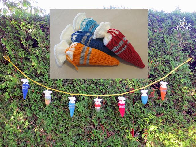 Schultüte Zuckertüte für den Schulanfang stricken
