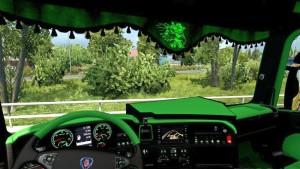 Scania RJL CMI Grue Interior