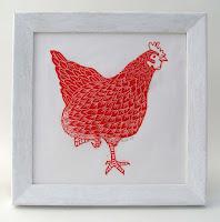 Red Hen Linocut Print