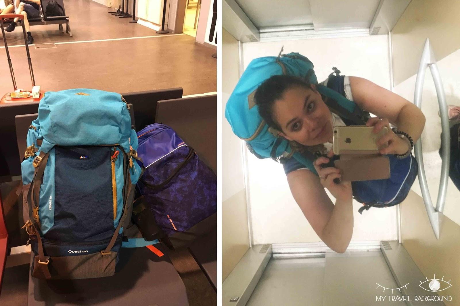 My Travel Background : voyager en sac à dos, quel modèle choisir, et quoi mettre dedans? Decathlon Escape 50L femme + newfeel abeona 30L