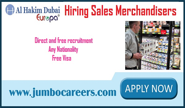 sales merchandiser jobs in Dubai for Indians, Find all new jobs in Dubai,