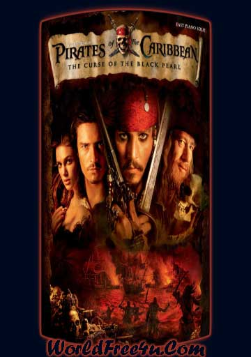 Poster Of Pirates of the Caribbean 1 (2003) Full Movie Hindi Dubbed Free Download Watch Online At worldfree4u.com