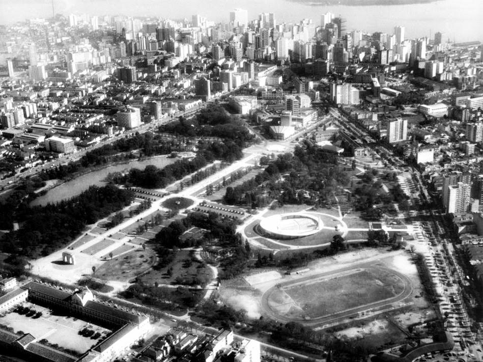 Parque da Redenção, em 1966.