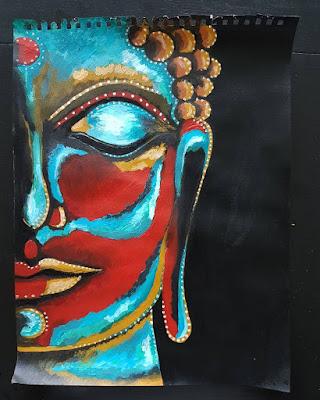 Buddha, acrylic
