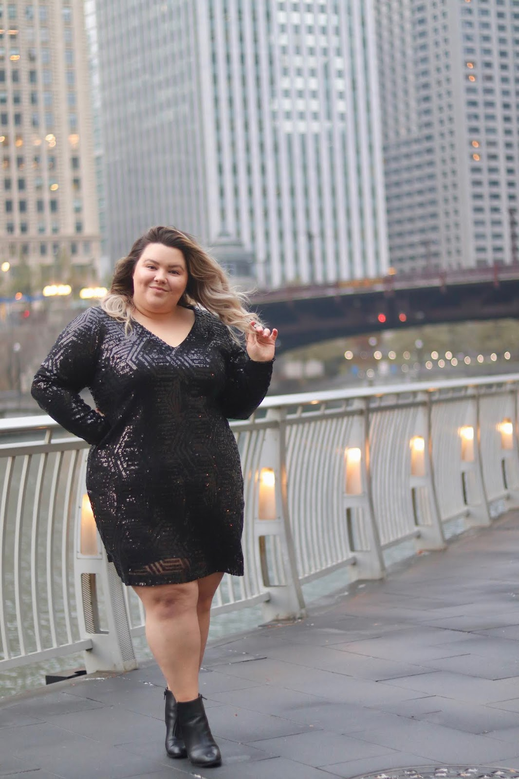 Chicago Plus Size Petite Fashion Blogger, influencer, YouTuber, and model Natalie Craig, of Natalie in the City, reviews CoEdition's Try for Free clothing line and City Chic Dresses.