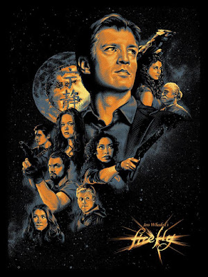 New York Comic Con 2018 Exclusive Firefly Screen Print by Tracie Ching x Spoke Art