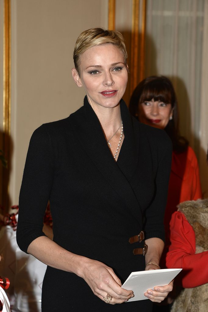 Princess Charlène shows new haircut
