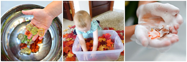 Fall sensory play ideas for kids from And Next Comes L
