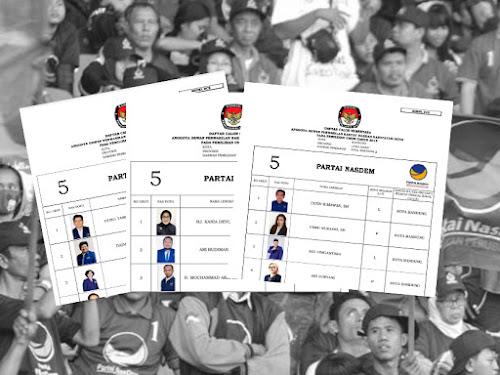 Daftar Calon Sementara Anggota DPRD Kota Bandung Pemilu 2019 dari Partai Nasdem
