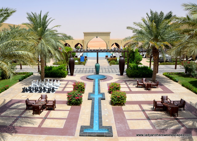 Tilal Liwa Hotel beautiful courtyard