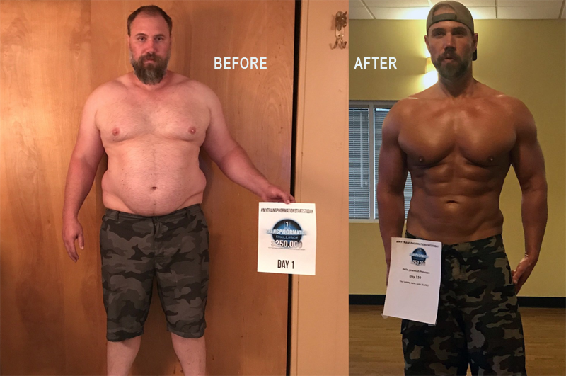 jeremiah peterson before after lose weight