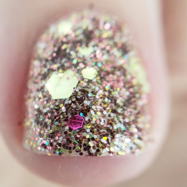 pink mix, glitter, glitter mix, nail art, nail art glitter, glitter nails