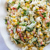 Cauliflower Corn and Cucumber Salad