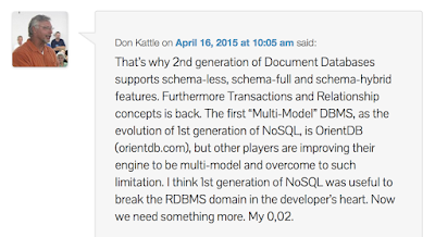 Don Kattle comment in another blog