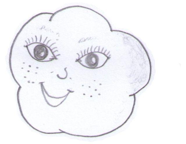 chmurka narysowana ołówkiem