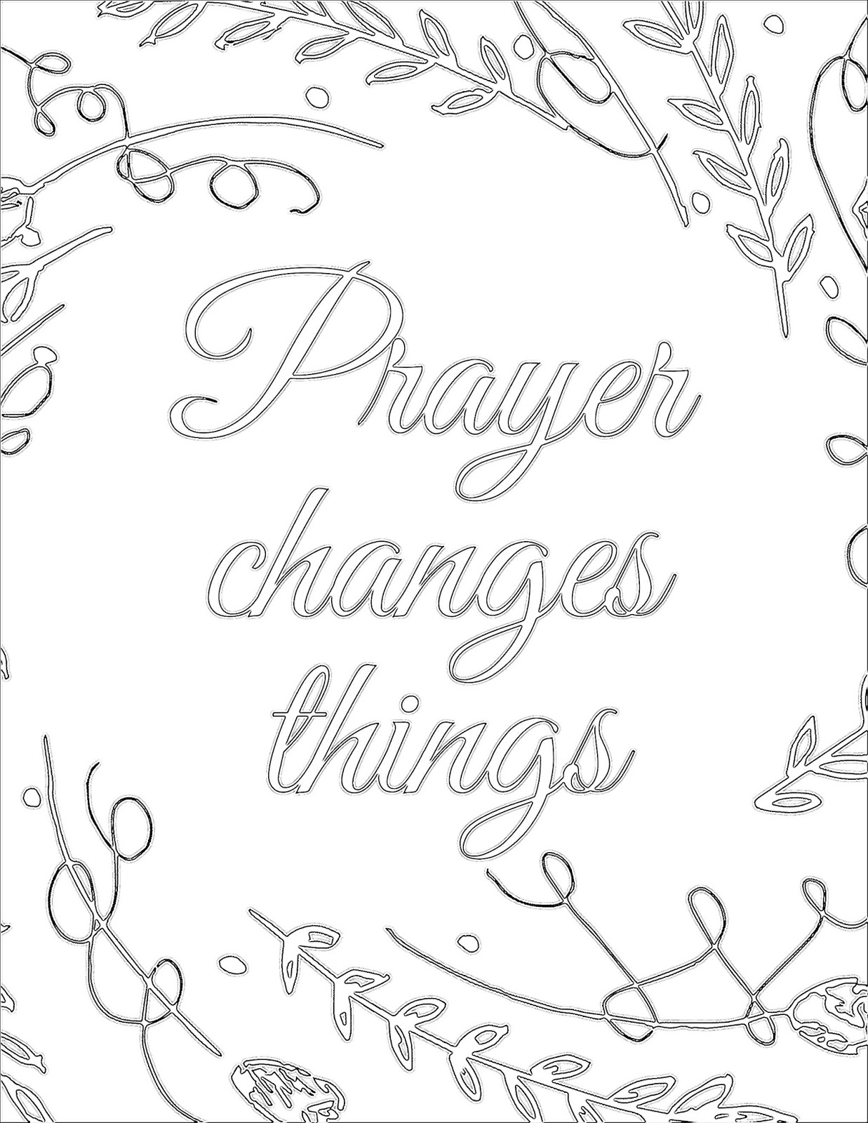 The Prudent Pantry: Prayer Changes Things {Printable