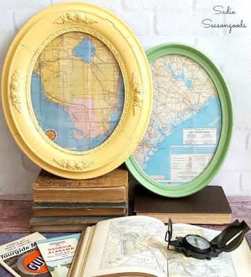 framed road maps