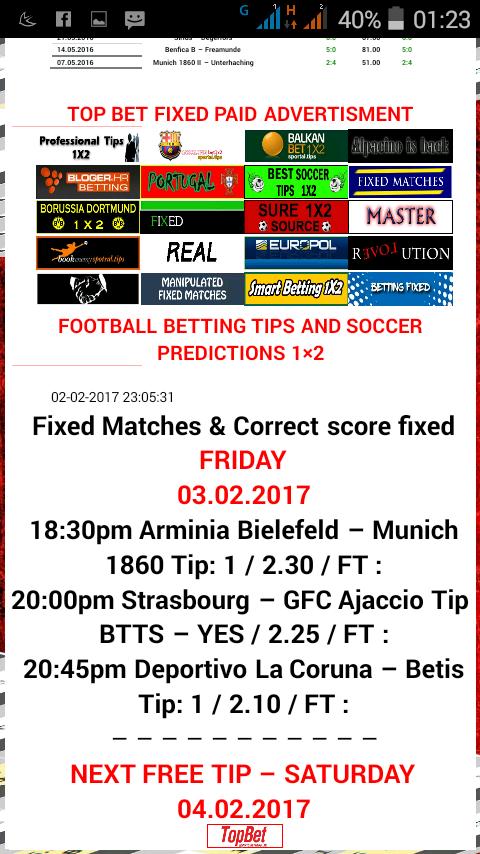 Football Top Bet Tips