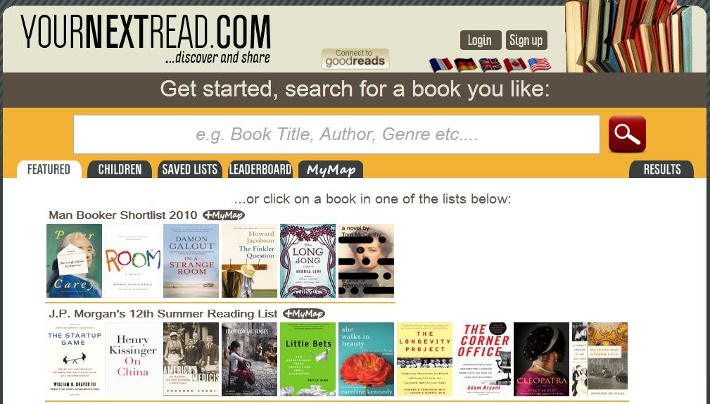 Caroline TEFL Journey: 閱讀書單生成器: yournextread網站推薦