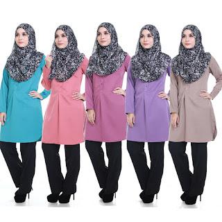 Blouse Plus Size Muslimah Jasmin terdapat dalam saiz Plus Size
