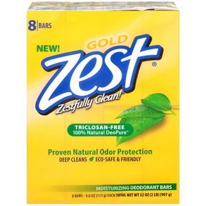 Xà bông Zest Gold Triclosan-Free mùi hương tự nhiên hàng xách tay từ Mỹ