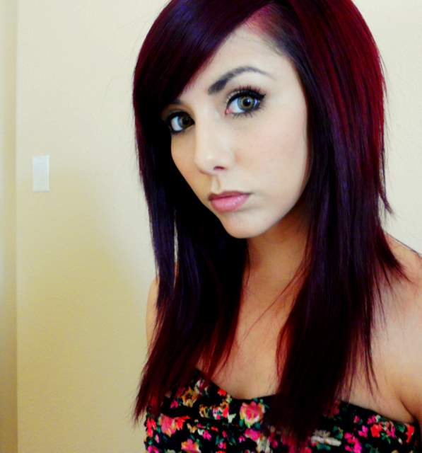 Technicolor My Hair Color  How To Get Dark Red Hair