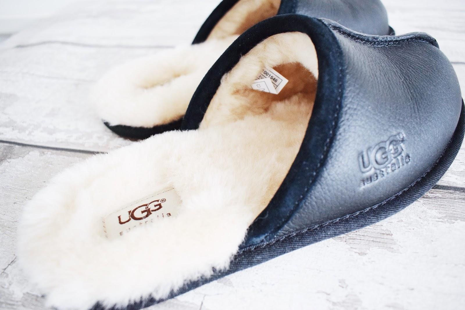 men's ugg slippers black scuff