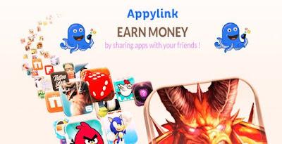 Appylink gagner argent en partageant des jeux et applications