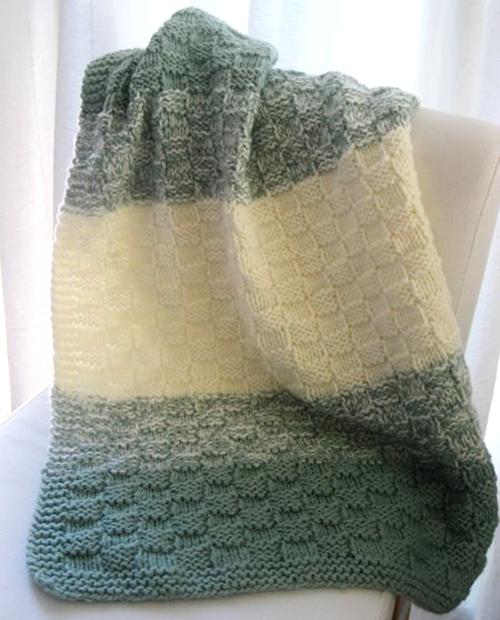 Basket Weave Baby Blanket - Free Pattern
