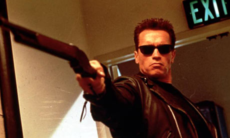 Arnold schwarzenegger holding gun