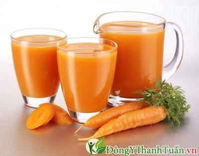 Chữa viêm họng nhanh khỏi từ nước ép cà rốt