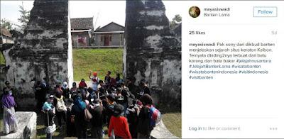 Peserta mendengarkan penjelasan Arkeolog dari dikbud Banten