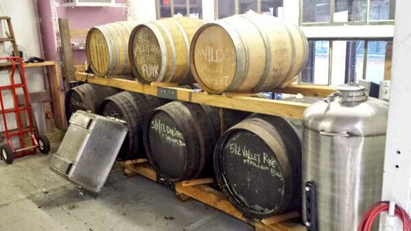 Barrels at Trillium Brewing Co.