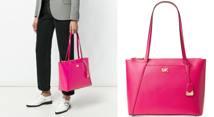 Head over to Macy s and get this MICHAEL Michael Kors Maddie Medium East  West Tote in color Ultra Pink on sale for  101.03 (Reg.  258). 78c1a7174a5ae